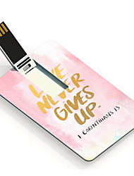 32GB Love Never Gives Up Design Card USB Flash Drive