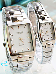 Couple's New SquareDial Steel strip Fashion Quartz Watch  (Assorted Colors) Cool Watches Unique Watches