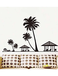 Wall Stickers Wall Decals, Coconut Trees PVC Wall Stickers