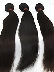 3pcs extensão do cabelo encaracolado muito mais barato malaio virgem ondulado longo remy humano remy cabelos lisos tecer