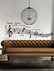 Wall Stickers Wall Decals, Style Music Virus English Words & Quotes PVC Wall Stickers