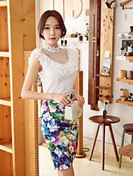 Pink Doll®Women's Bodycon/Print Asymmetrical Skirts