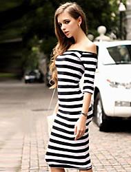 Women's Bodycon Off-the-shoulder Dresses (Cotton)