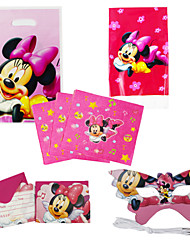 75pcs Minnie Mouse Baby Birthday Party Decorations Kids Evnent Party Supplies Party Decoration 18 People Use