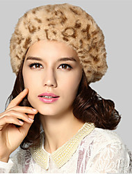 Kenmont Lady Women Autumn Winter Rabbit Hair Beret Fashion British Octagonal Cap Warm Hat 1483