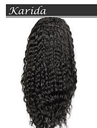14-26-Zoll-brasilianische tiefe Welle Haar volle Spitzeperücken, Perücken u Teil für schwarze Frauen