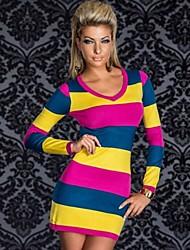 Robes ( Bleu / Rouge / Blanc / Jaune , Polyester , Spectacle / Tenues pour Boîte de Nuit ) Spectacle / Tenues pour Boîte de Nuit - pour