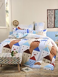 Mingjie Nordic Small Town Sanding Bedding Sets 4pcs Duvet Cover Sets Bed Linen China Queen Size and Full Size