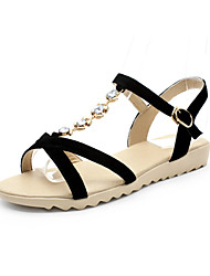 Women's Shoes Leather Wedge Heel Wedges Sandals Dress