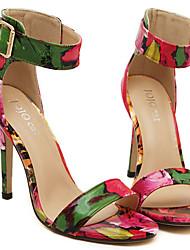 Vinda Women's Shoes Gold/Multi-color/Silver Stiletto Heel 6-9cm Sandals (PU)