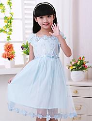 Girl's New Cuhk Children Short Sleeves Dress