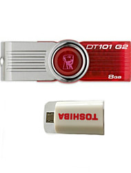 unidades flash USB giratoria kingstondt101 g2 8g (dar kit de conexión inteligente OTG)