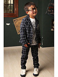 Boy's Cotton / Spandex Clothing Set,Summer Check
