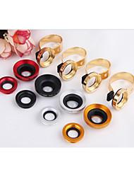 métal universel c clip 2N1 0.67x grand angle 10x + macro lentille de la caméra pour l'iphone htc samsung sony etc.