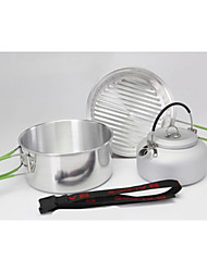 Outdoor Camping Hiking Picnic Backpacking Pot Pan Cookware 1-2 Person Cooking Bowl Set