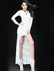Ya Zhe Women'S New European Style Goddess Paragraph Long And Short Dovetail Lower Chest Full Lace Skirt
