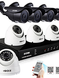 ZOSI® 8 Channel H.264 HDMI D1 DVR 8 pcs 800TVL IR Outdoor CCTV Camera Surveillance Security System