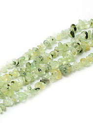 "Beadia Green Prehnite Stone Beads 5-8mm Irregular Shape DIY Loose Beads Fit Necklace Bracelet Jewelry 34""/Str"