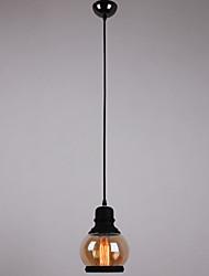 Antique Glass Shade,1Light,Artistic Minimalist Chandelier