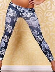 Women's Low Waist Embroidery Legging