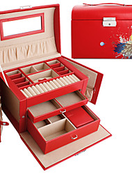 lavie®red Schmetterlingsdruck-PU-Leder Schmuckschatulle