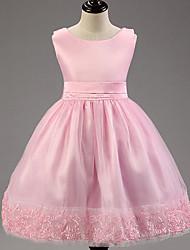 Girl's Summer Micro-elastic Thin Sleeveless Dresses (Cotton Blends)
