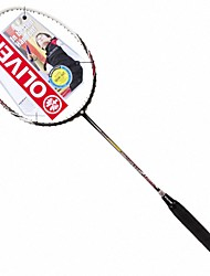 Men/Unisex/Women/Kids Badminton Rackets Low Windage/High Elasticity/Durable Coffee 1 Piece Carbon Fiber