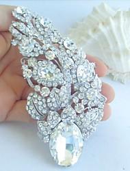Wedding Accessories Silver-tone Clear Rhinestone Crystal Bridal Brooch Wedding Deco Bridal Bouquet Flower Wedding Brooch