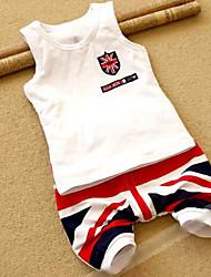 Boy's Shorts Union Jack Vest Short Clothing Sets