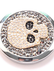 zwarte schedel pocket make-up spiegel cosmetische kant draagbare miroir espelho espejo de maquiagem bolso maquillaje bling