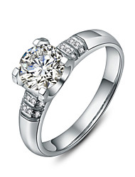 1CT 6.5mm Oxhead Style Ring Micro Paved Engagement SONA Diamond Ring for Women Sterling Silver Pt950 Engraved