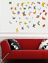 Wall Stickers Wall Decals, Butterfly Flutters PVC Wall Stickers