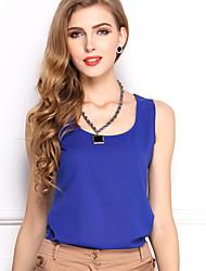 Women's Candy-colored Chiffon  Sleeveless Vest Straps Bottoming Shirt