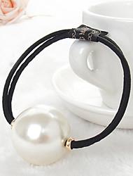 europäischer Stil Mode wilden große Perle elastische Haar-Riegel
