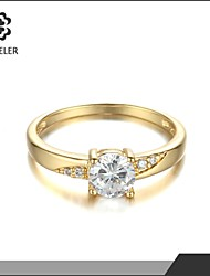 2015 Latest Plating Gold Zircon Ring