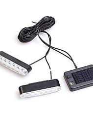 RUNDONG® Car Decoration Solar Energy Switch 1-to-2 LED Flashing Lights