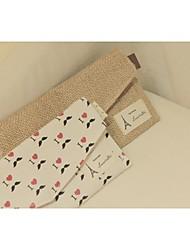 Coton et de lin embrayage porte-monnaie clé de stockage de cas sac porte-monnaie portefeuille de 2 femmes de couleurs