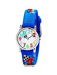Children's Cartoon 3D Pattern Digital Display Blue Silicone Band Quartz Imported machine Analog Wrist Watch Cool Watches Unique Watches
