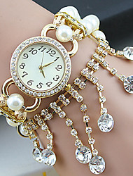 Women's Luxury Diamond Pearl Alloy Band Chian Quartz Analog Bracelet Watch(Assorted Colors) Cool Watches Unique Watches