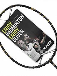 Men/Unisex/Women/Kids Badminton Rackets Low Windage/High Elasticity/Durable Black 1 Piece Carbon Fiber