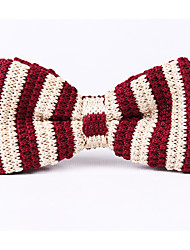Wide Knitting Striped Bow Ties