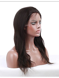 Women Human Hair Black Wig Straight