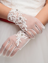 Lace/Tulle Wrist Length Wedding/Party Glove