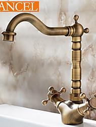 Centerset Antique Brass Bathroom Single Handle Sink Faucet