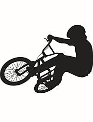 decalques de parede adesivos de parede, estilo montar uma parede de bicicleta adesivos em pvc