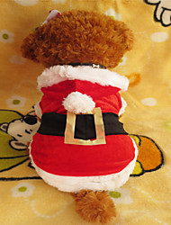 Dog Hoodie Red Dog Clothes Winter Christmas