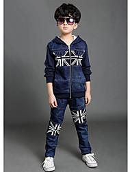 Boy's Spring/Fall Micro-elastic Medium Long Sleeve Jeans (Cotton Blends)
