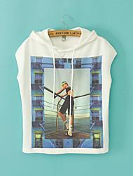 Tee-shirt Aux femmes Manches Courtes Bateau Polyester
