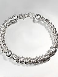 ocasional prata s925 banhado link / cadeia pulseira pulseiras para as mulheres grande promoção