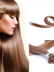 """22""""inch Flat Tip Peruvian Virgin Hair Straight Human Hair Color #10"""